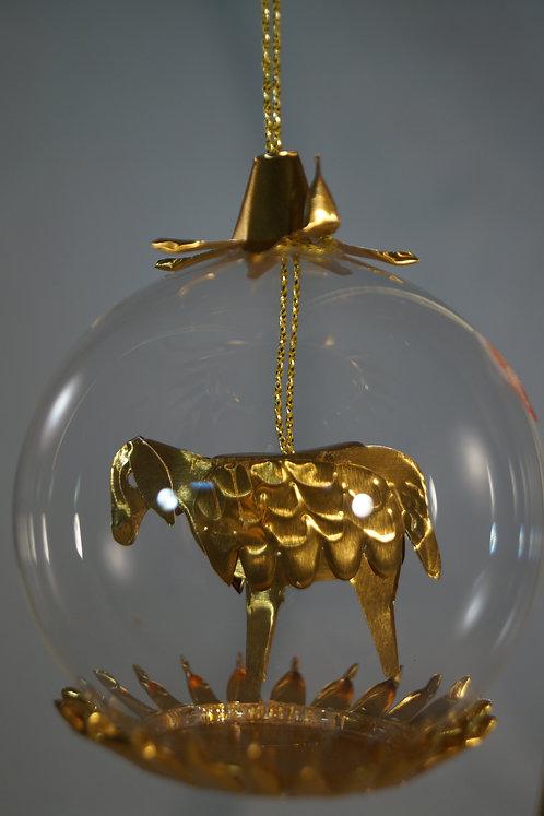 6cm Gold Sheep