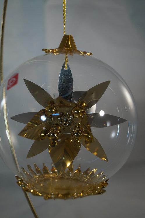 10cm Gold Poinsettia