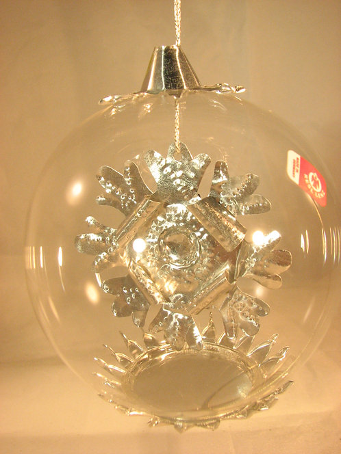 Silver Snowflake Jewel with Clear Bead 172sc