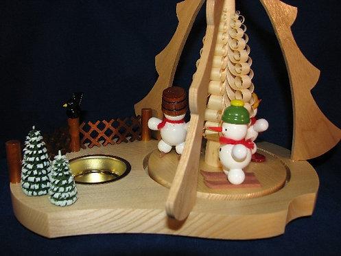 Snowman Tea Light Pyramid