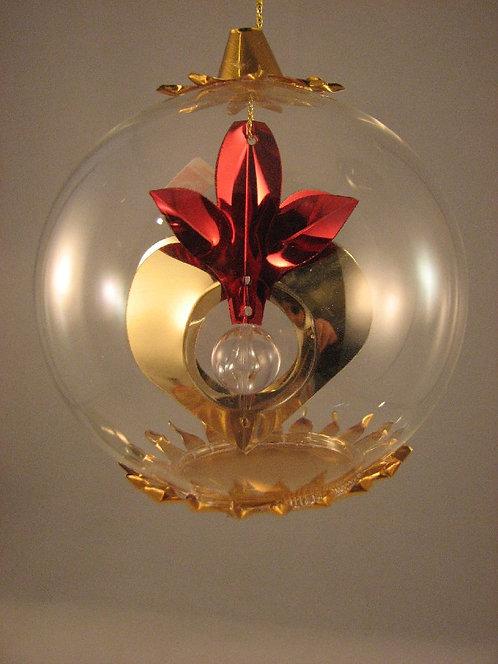 Gold Heart w/Clear Center    128GRC
