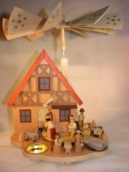 Tea Light Pyramid House  16240
