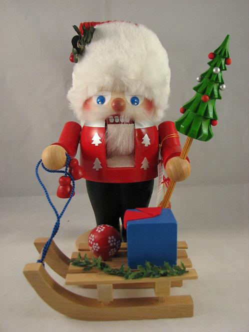 Troll Santa w/Sleigh Signed