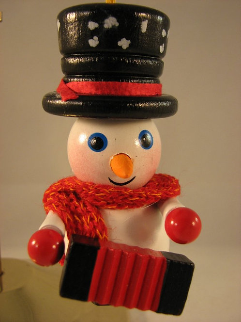 Snowman with Accordion-(Z-436)