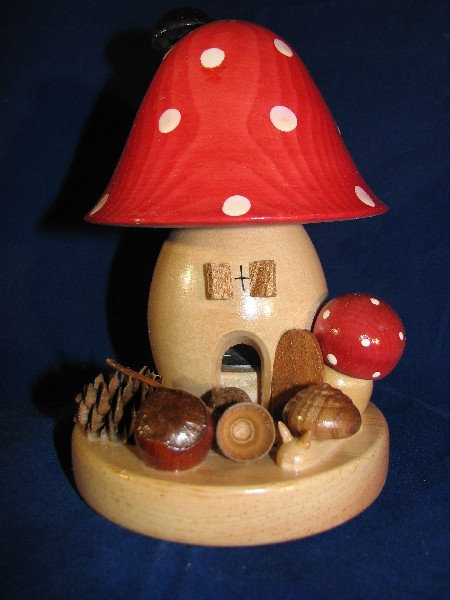 Large Red Mushroom House Smoker