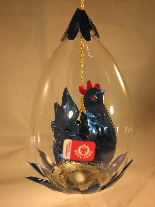 Blue Hen with Nest Egg