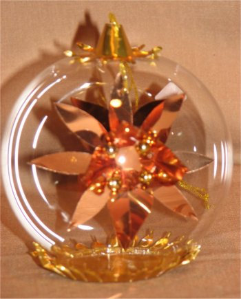 Copper Poinsettia w/Gold Beads      115CG