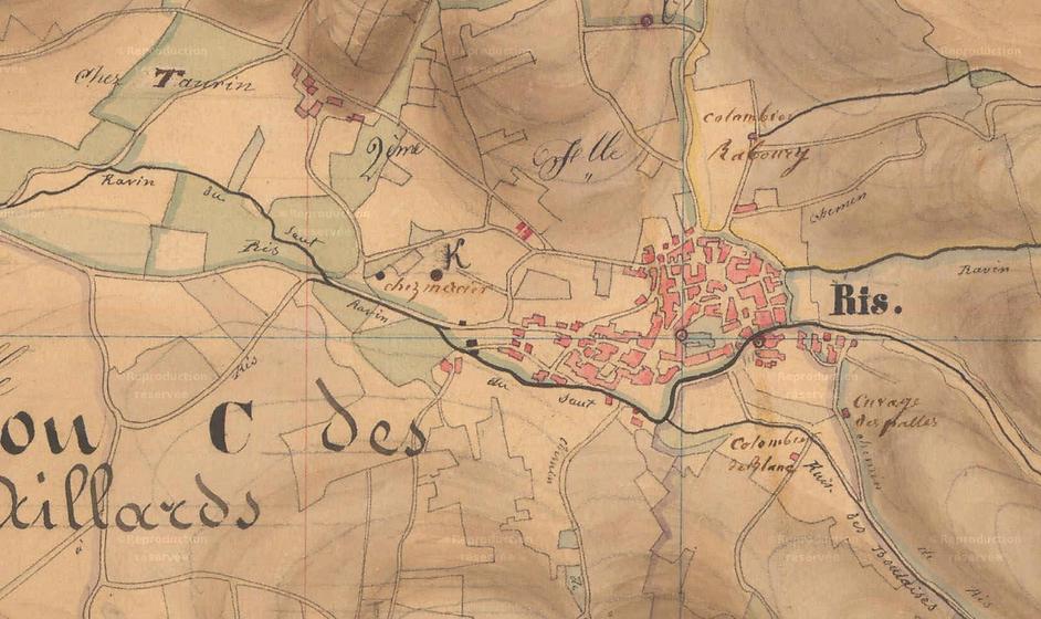 cadastre 1835 AD Puy-de-Dôme