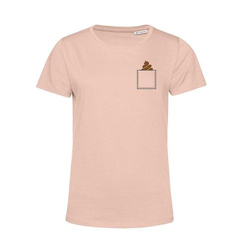 Shirt vrouw – Borstzak poepie