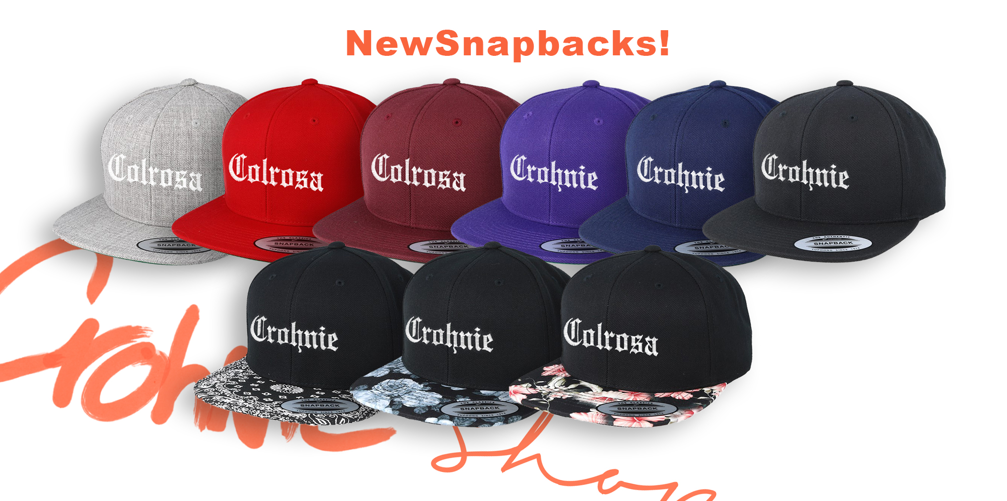 Banner Crohnie Shop - Snapbacks