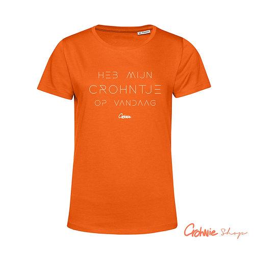 Shirt vrouw – Koningsdag Heb mijn Crohntje op vandaag