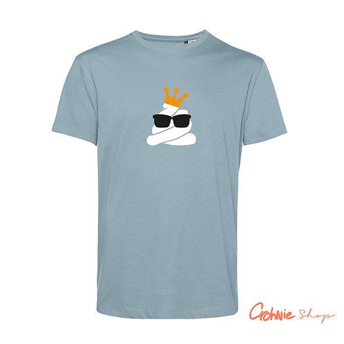 Shirt man – Poepie met kroon (goud)