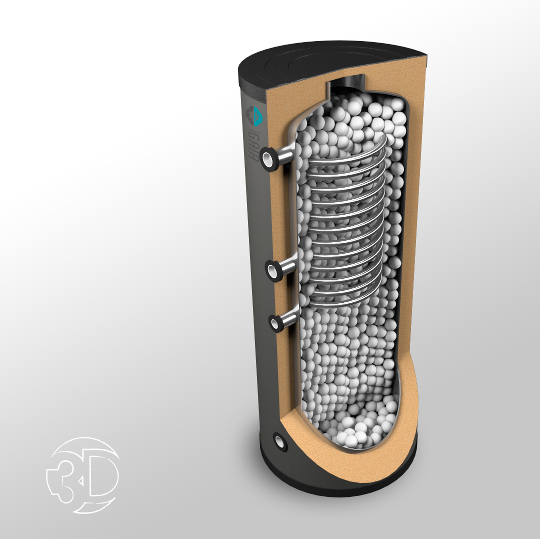 Caldamec verwarming - 3D ontwerp