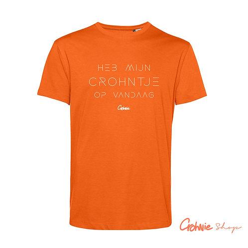 Shirt man – Koningsdag Heb mijn Crohntje op vandaag