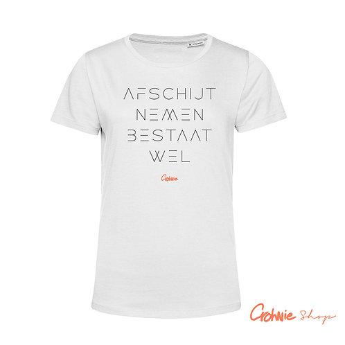 Shirt vrouw – Afschijt nemen bestaat wel