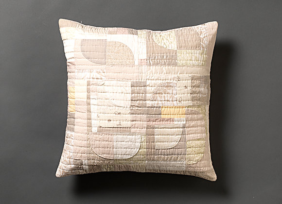 Neutral Freeform Patchwork Cushion Cover