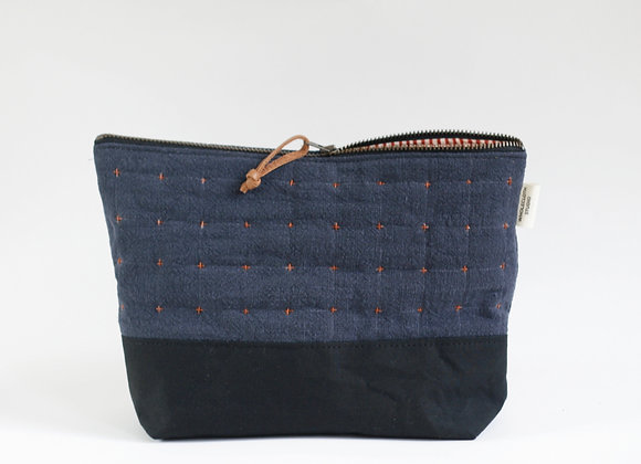 Plus Zipped Pouch in Navy and Black