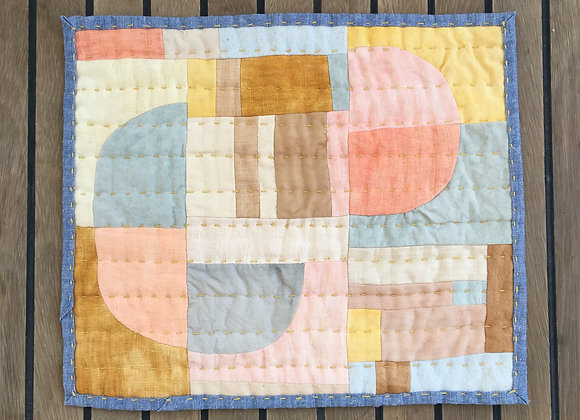 Coastline I Small Quilted Wall Hanging