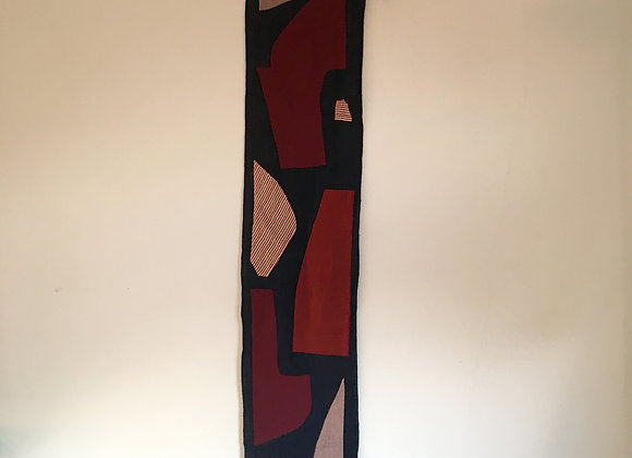 Shapes Wallhanging in Wine
