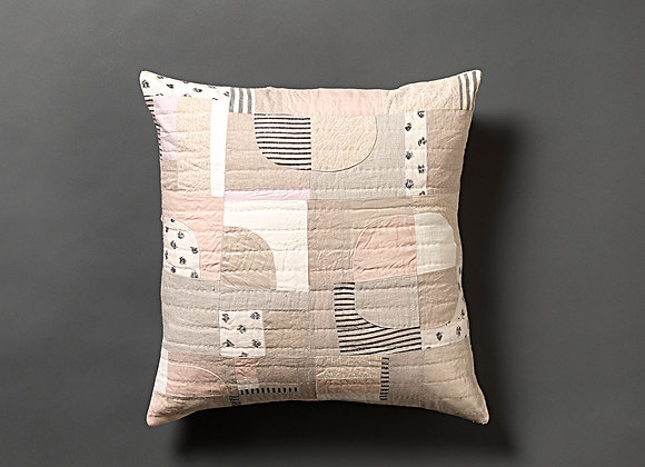 Stripe Dot Patchwork Cushion Cover