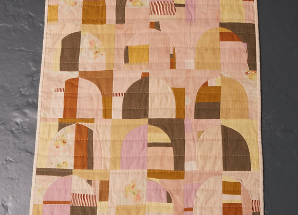 Peach Arches Small Quilt