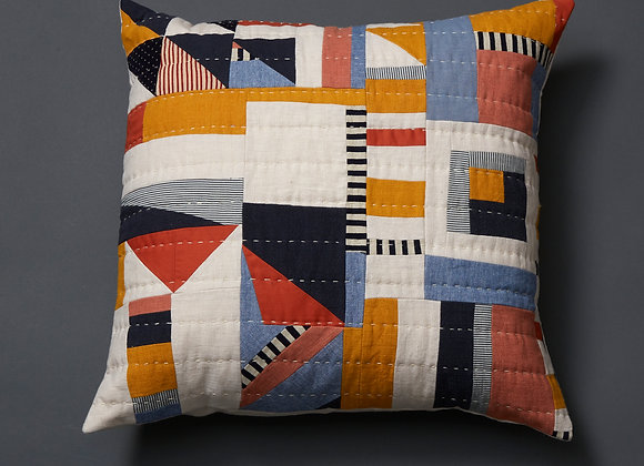 Primary Freeform Patchwork Cushion Cover
