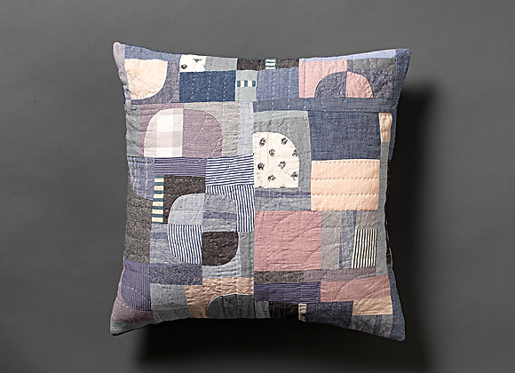 Freeform Patchwork Cushion Cover