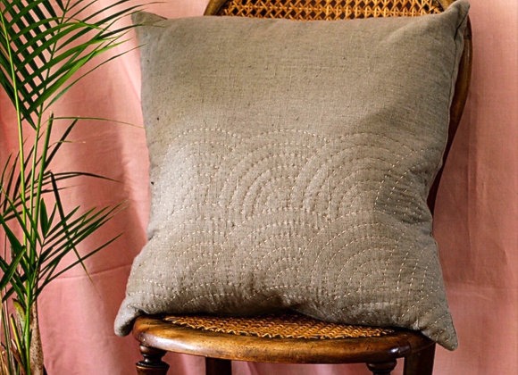 Fan Cushion in Mushroom