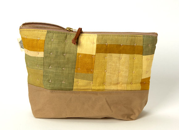 Plant Dyed Patched Plus Pouch in Yellows