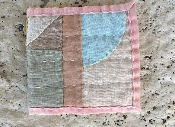 Hand Quilted Needle Book J