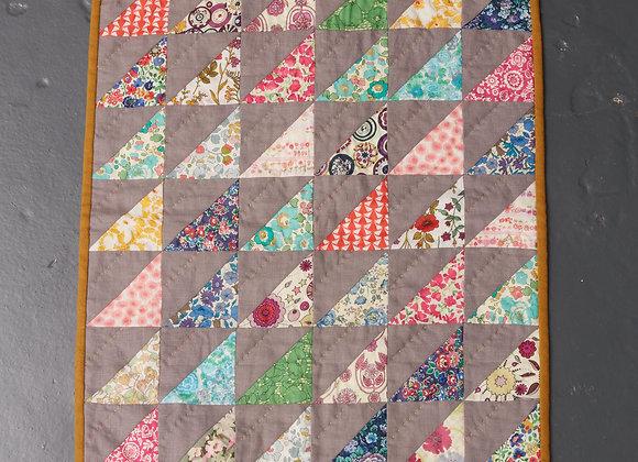 Liberty and Linen Mini Quilt