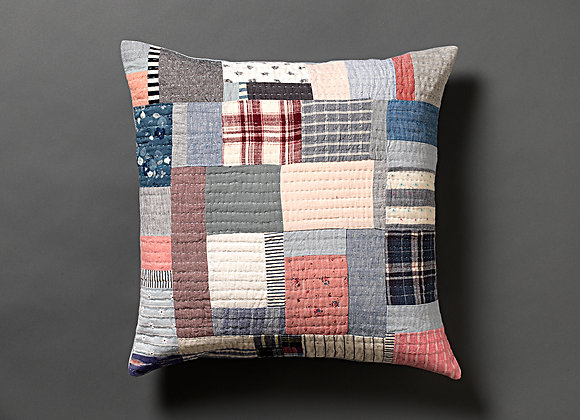 Plaid Patchwork Cushion Cover