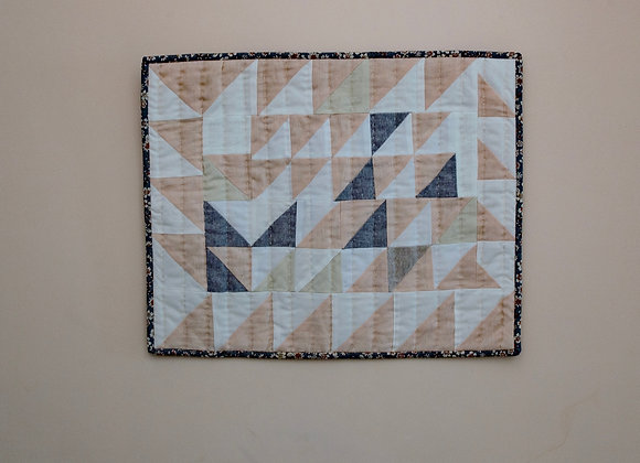 Peach and White Mini Quilt