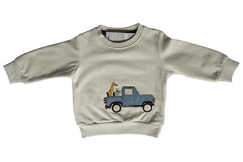 Macaron Sweatshirt Krem Zürafa
