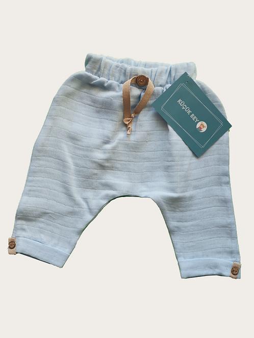 Mavi Müslin Pantolon