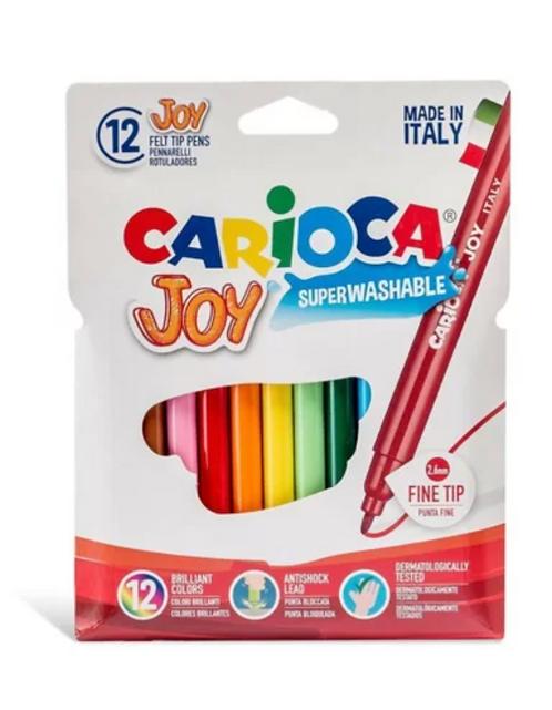 Carioca Joy Yıkanabilir Keçeli Kalem 12li