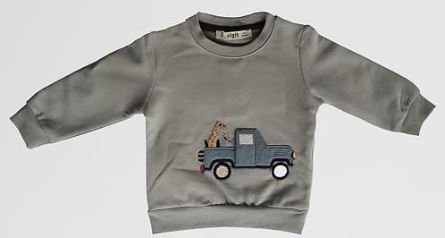 Macaron Sweatshirt Gri Zürafa