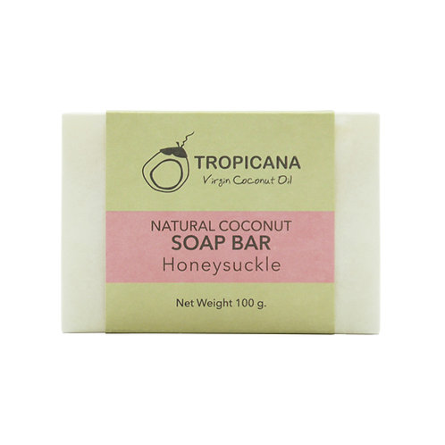 "Натуральное мыло ""HONEYSUCKLE""/NATURAL COCONUT SOAP BAR (HONEYSUCKLE) 100 G"