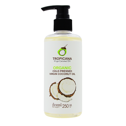 100% ORGANIC COLD-PRESSED VIRGIN COCONUT OIL 250 ML