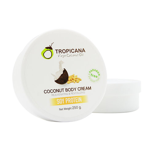 Крем для тела/COCONUT BODY CREAM WITH SOY PROTEIN (NON-PARABEN) 250 G