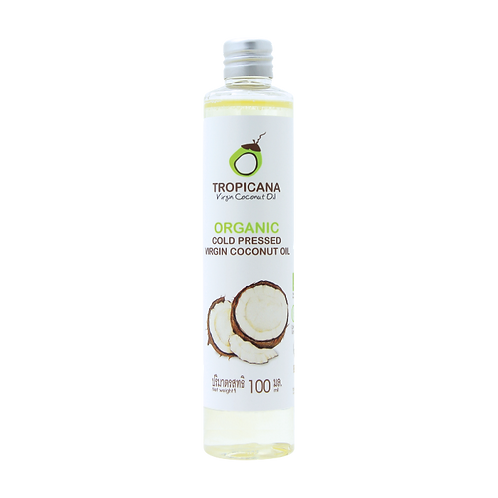 Кокосовое масло 100мл/100% ORGANIC COLD-PRESSED VIRGIN COCONUT OIL 100 ML