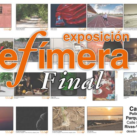 Exposición efímera: final