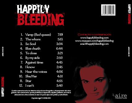 Happily Bleeding. Caja exterior