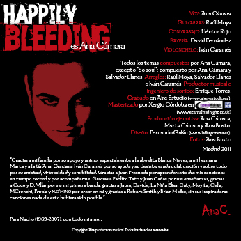 Happily Bleeding. Trasera