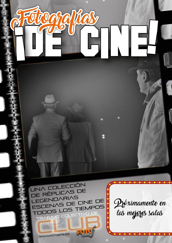 """Cartel anunciador de la exposición """"Fotografías ¡De cine!"""""""