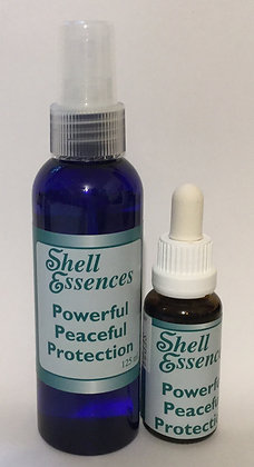 Powerful Peaceful Protection spray and stock