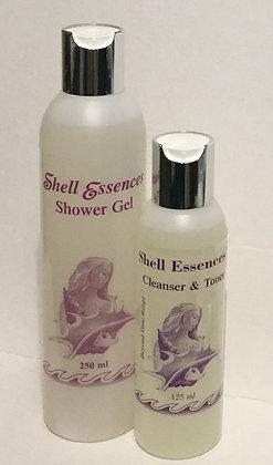 250 ml Shower Gel & 125 ml Cleanser toner.