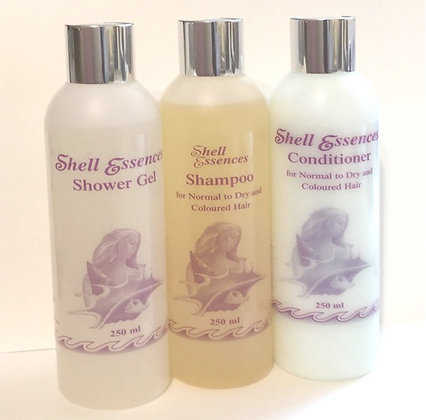 healthy hair and body Shower Gel 250ml; Shampoo 250ml; Conditioner 250ml