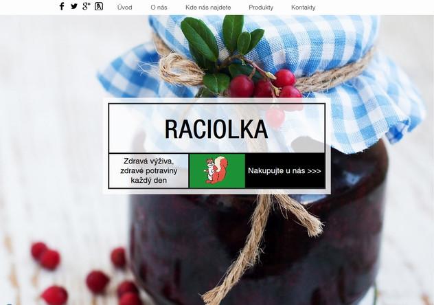 Výroba webových stránek www.raciolka.com dokončena