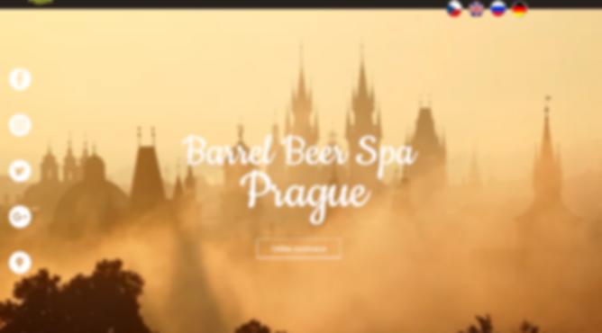 Výroba webových stránek Prague Barrel Beer Spa